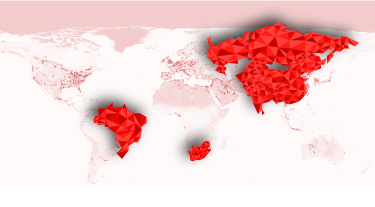 BRICS countries atlas low poly by Britto.design