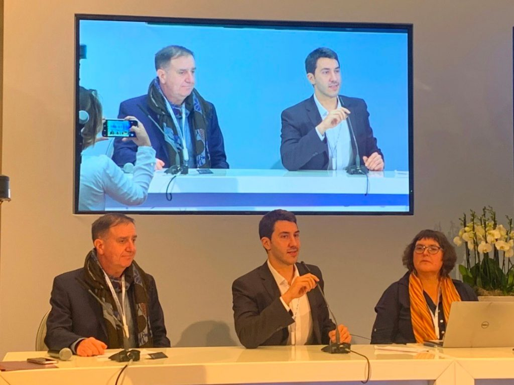 Adam Burns, Luca Belli and Anriette Esterhuysen at IGF 2019