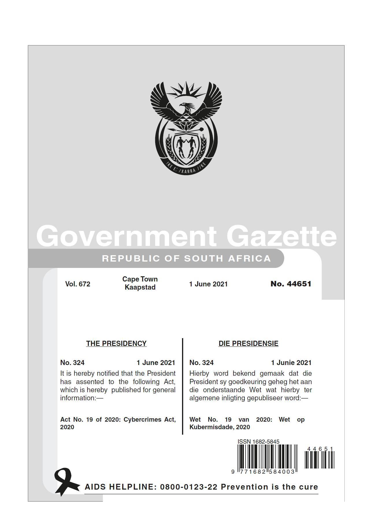 Cybercrimes Act SA cover